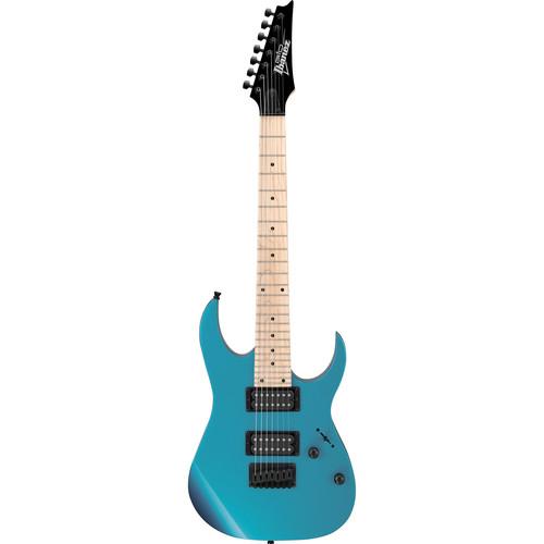 Ibanez GRG7221M GIO Series 7-String Electric Guitar (Metallic Light Blue)