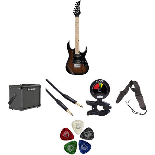 Ibanez GRGM21M miKro Series Electric Guitar Starter Kit (Walnut Sunburst)