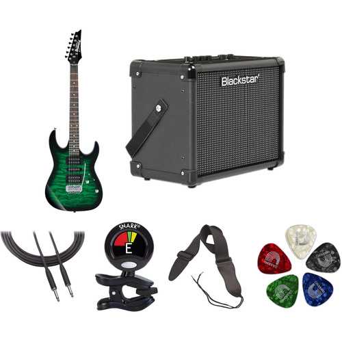 Ibanez GRX70QA GIO Series Electric Guitar Starter Kit (Transparent Emerald Burst)