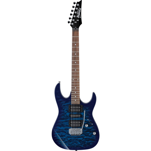 Ibanez GRX70QA GIO Series Electric Guitar (Transparent Blue Burst)