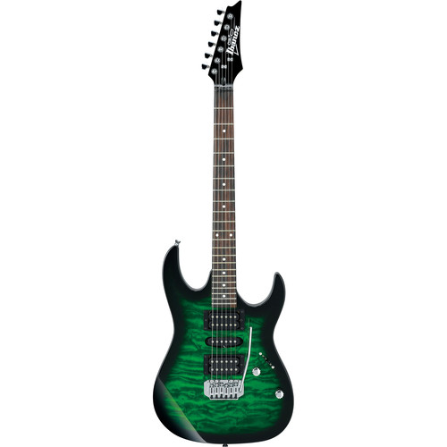 Ibanez GRX70QA GIO Series Electric Guitar (Transparent Emerald Burst)