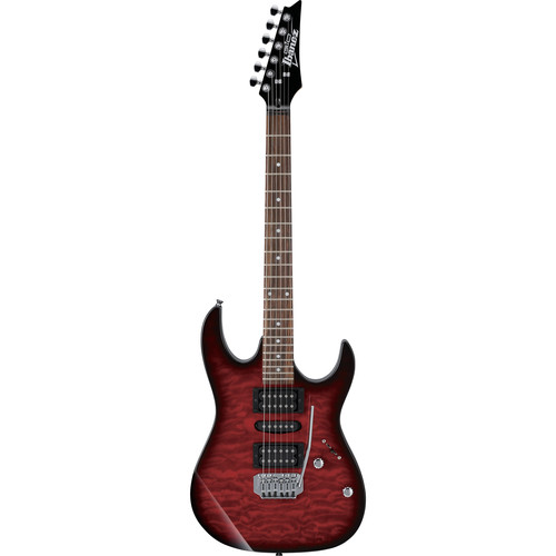 Ibanez GRX70QA GIO Series Electric Guitar (Transparent Red Burst)