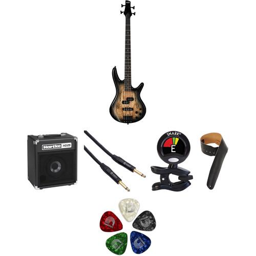 Ibanez GSR200 GIO 4-String Bass Starter Kit (Natural Gray Burst)