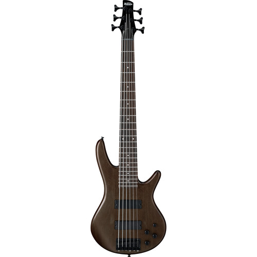 Ibanez GSR206BWNF GIO Series 6-String Electric Bass Guitar (Charcoal Brown Burst)