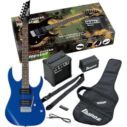 Ibanez IJRG220Z Jumpstart Package with Guitar, Amplifier, Strap, Gig Bag & More (Blue)