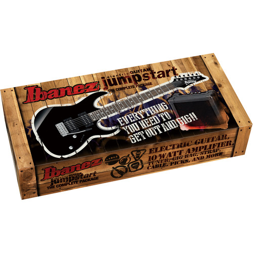 Ibanez IJRG220Z Jumpstart Package with Guitar, Amplifier, Strap, Gig Bag & More (Vivid Red)