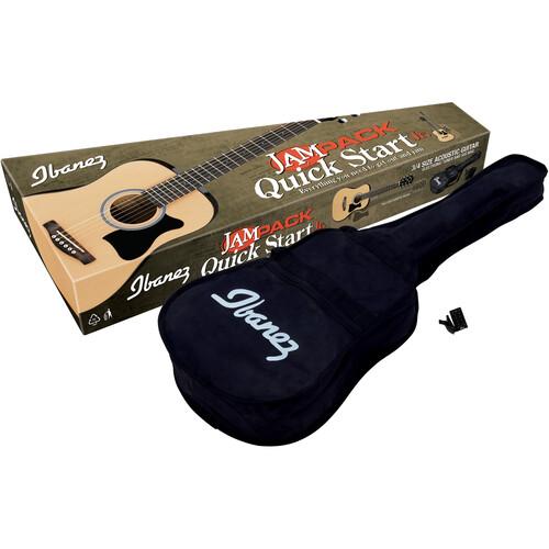 Ibanez IJV30 Jampack Acoustic Guitar Package - 3/4 Size Dreadnought Guitar (Natural)
