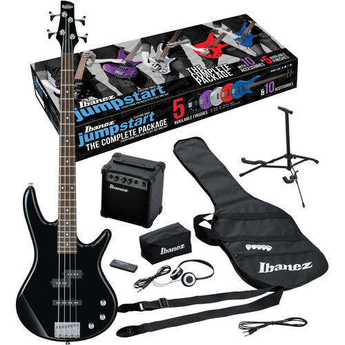 Ibanez IJXB150 Jumpstart 4-String Bass Package (Black)