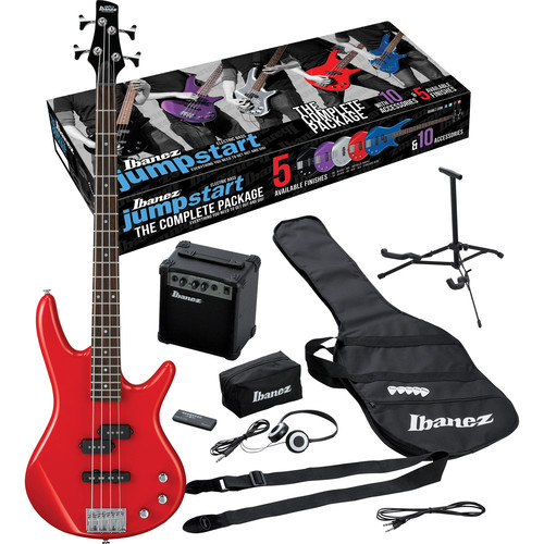 Ibanez IJXB150 Jumpstart 4-String Bass Package (Red)