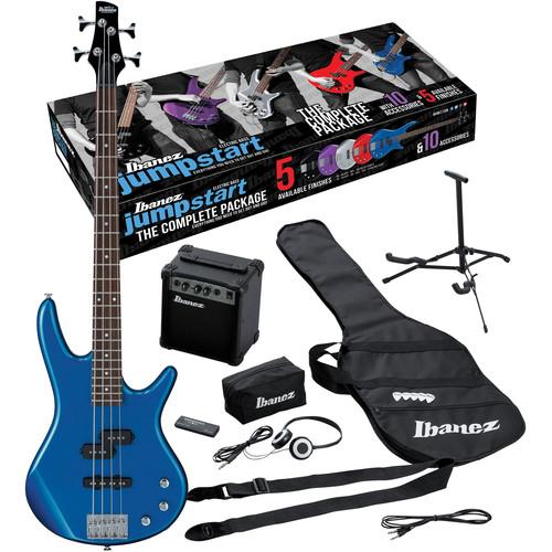 Ibanez IJXB150 Jumpstart 4-String Bass Package (Starlight Blue)