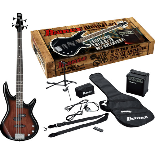 Ibanez IJXB150 Jumpstart 4-String Bass Package (Walnut Sunburst)