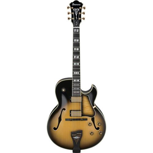 Ibanez (Little) George Benson Signature 6-String Electric Guitar with Case (Vintage Yellow Sunburst)