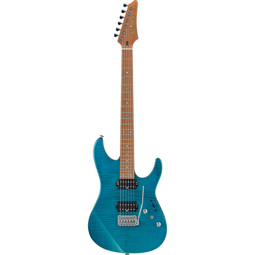 Ibanez Martin Miller Signature 6-String Electric Guitar with Case (Transparent Aqua Blue)