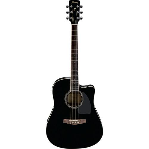 Ibanez PF15ECE PF Performance Series Acoustic/Electric Guitar (Black)