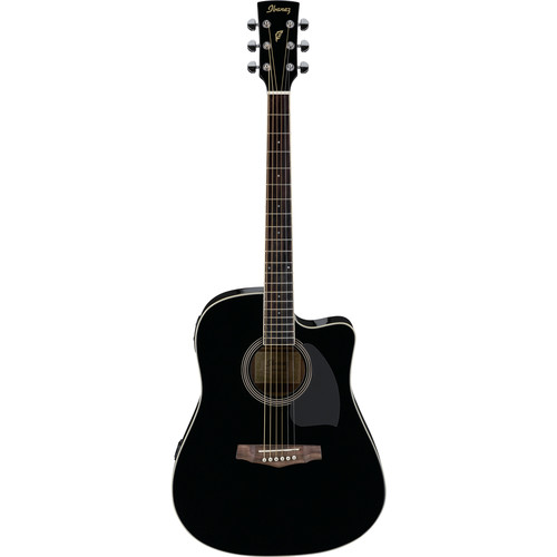 Ibanez PF15ECE PF Performance Series Acoustic/Electric Guitar (Black)