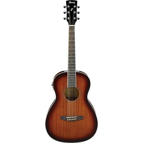 Ibanez PN12E PF Performance Series Parlor Acoustic/Electric Guitar (Vintage Mahogany Sunburst)