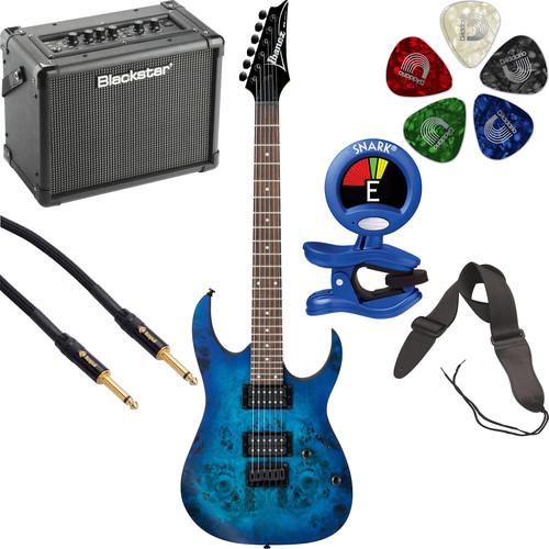 Ibanez RG421PB RG Standard Series Electric Guitar Starter Kit (Sapphire Blue Flat)