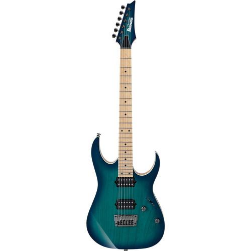 Ibanez Prestige RG Series RG652AHMFX Electric Guitar with Case (Nebula Green Burst)