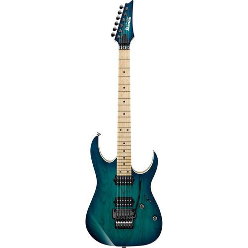 Ibanez Prestige RG Series RG652AHM Electric Guitar with Case (Nebula Green Burst)