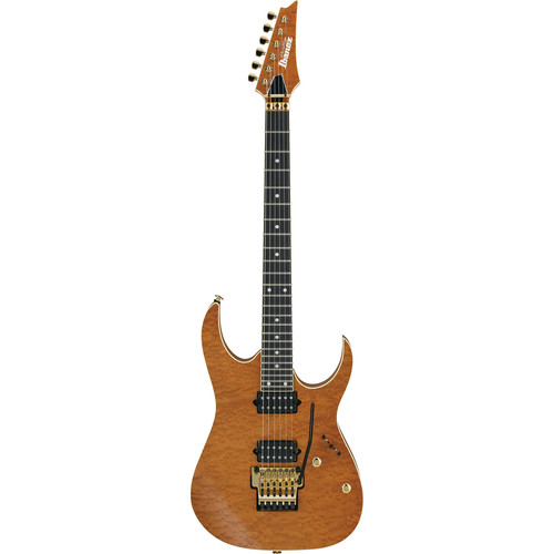 Ibanez RG Prestige 6-String Electric Guitar with Case (Natural Flat)