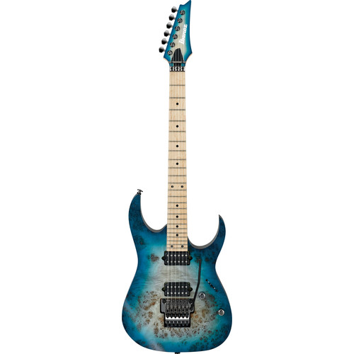 Ibanez RG652MPB RG Prestige Series Electric Guitar (Ghost Fleet Blue Burst)