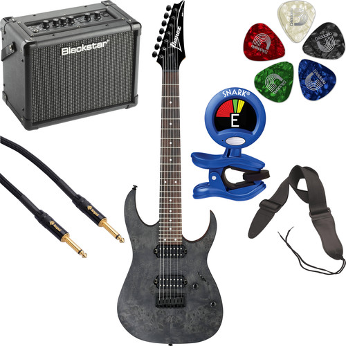 Ibanez RG7421PB RG Standard Series 7-String Electric Guitar Starter Kit (Transparent Gray Flat)