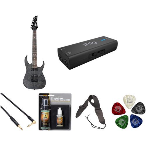 Ibanez RG7421PB RG Standard Series 7-String Electric Guitar (Transparent Gray Flat)