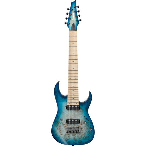 Ibanez RG Prestige 8-String Electric Guitar with Case (Ghost Fleet Blue Burst)