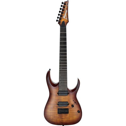 Ibanez RGA742FM RGA Standard Series 7-String Electric Guitar (Dragon Eye Burst Flat)