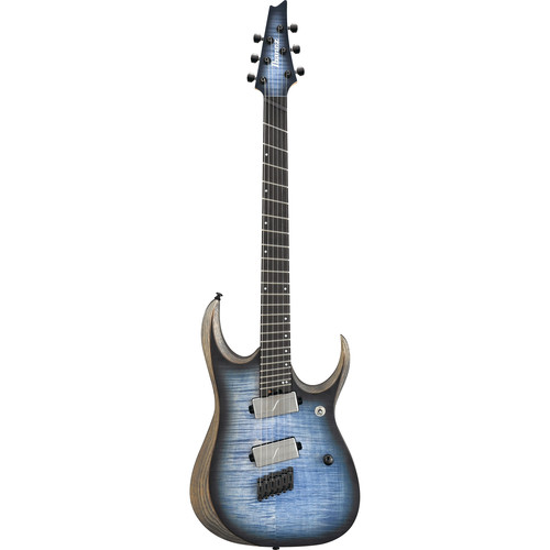 Ibanez RGDIM6FM RGD Iron Label Series Multi-Scale Electric Guitar (Cerulean Blue Burst Flat)