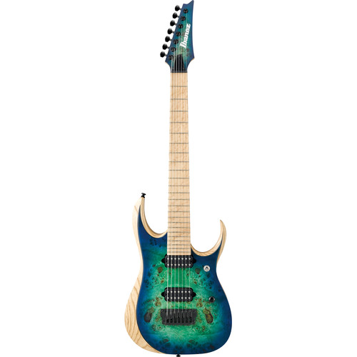 Ibanez RGDIX7MPB RGD Iron Label Series 7-String Electric Guitar (Surreal Blue Burst)
