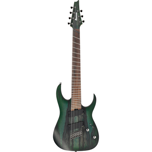 Ibanez RGIM7BC RG Iron Label Series 7-String Electric Guitar (Deep Forest Burst Flat)