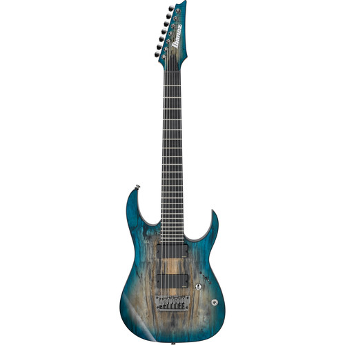 Ibanez RGIX27FESM RG Iron Label Series 7-String Electric Guitar (Foggy Stained Blue)