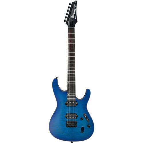 Ibanez S621QM S-Standard Series Electric Guitar (Sapphire Blue Flat)