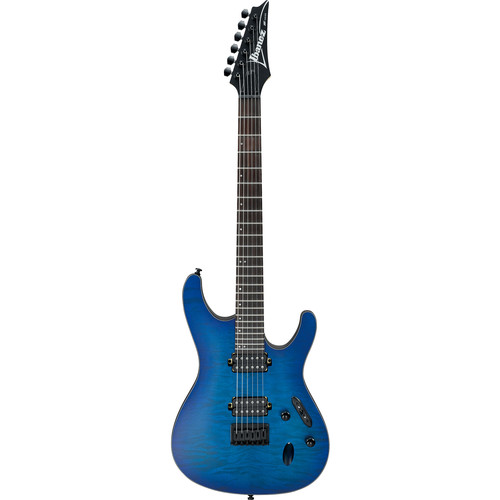 Ibanez S621QM S-Standard Series Electric Guitar (Sapphire Blue Flat)