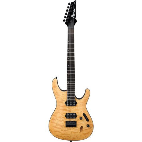 Ibanez S621QM S-Standard Series Electric Guitar (Vintage Natural Flat)