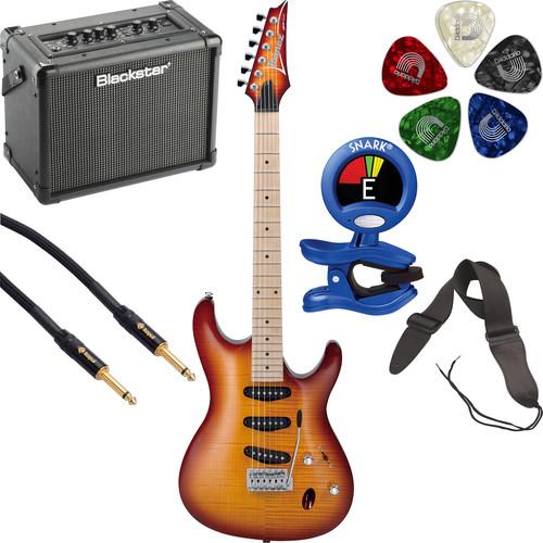 Ibanez SA130MFM SA Standard Series Electric Guitar Starter Kit (Brown Burst)