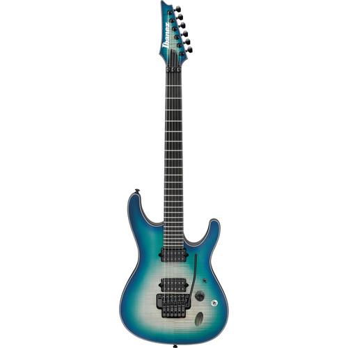 Ibanez SIX6DFM Iron Label S Series Electric Guitar (Blue Space Burst)