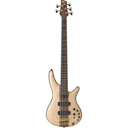 Ibanez SR Premium 5-String Electric Bass - Ash/Mahogany - Natural Flat
