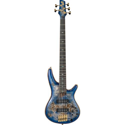Ibanez SR2605E SR Premium Series 5-String Electric Bass (Cerulean Blue Burst)