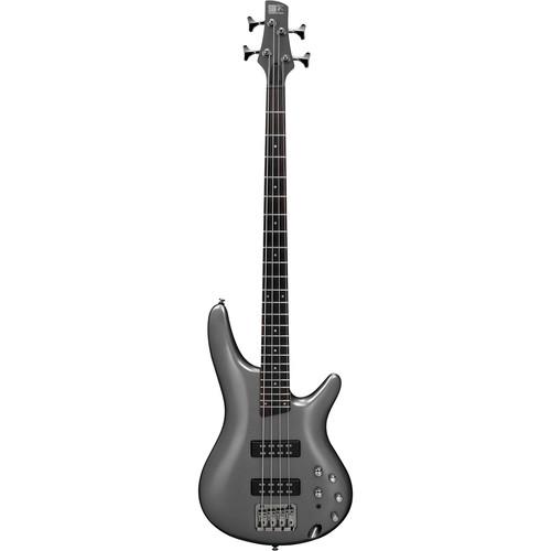 Ibanez SR300E SR Standard Series Electric Bass Guitar Starter Kit (Metallic Gray)