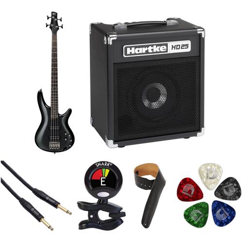 Ibanez SR300E SR Standard Series Electric Bass Guitar Starter Kit (Iron Pewter)