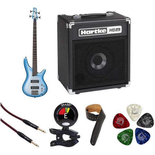Ibanez SR300E SR Standard Series Electric Bass Guitar Starter Kit (Seashore Metallic Burst)