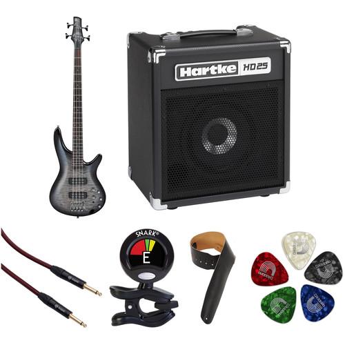 Ibanez SR400EQM SR Standard Series Electric Bass Starter Kit (Fade Blue Burst)