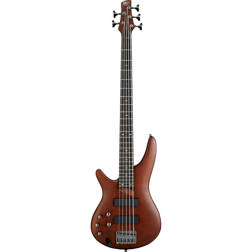 Ibanez SR505L SR Series 5-String Electric Bass Guitar (Left-Handed, Brown Mahogany)