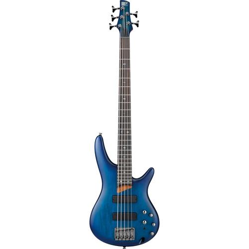Ibanez SR Series - SR505 - 5-String Electric Bass Guitar (Sapphire Blue Flat)