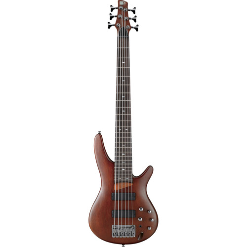 Ibanez SR Series - SR506 - 6-String Electric Bass Guitar (Brown Mahogany)