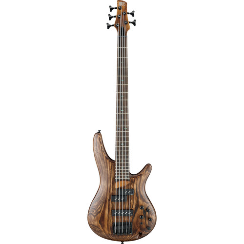 Ibanez SR Series - SR655 - 5-String Electric Bass Guitar (Antique Brown Stained)