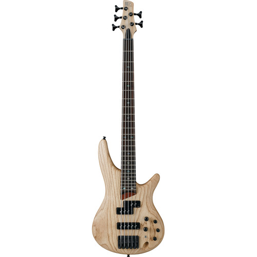 Ibanez SR Series - SR655 - 5-String Electric Bass Guitar (Natural Flat)