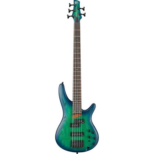 Ibanez SR655 - SR Standard Series - 5-String Electric Bass Guitar (Surreal Blue Burst)